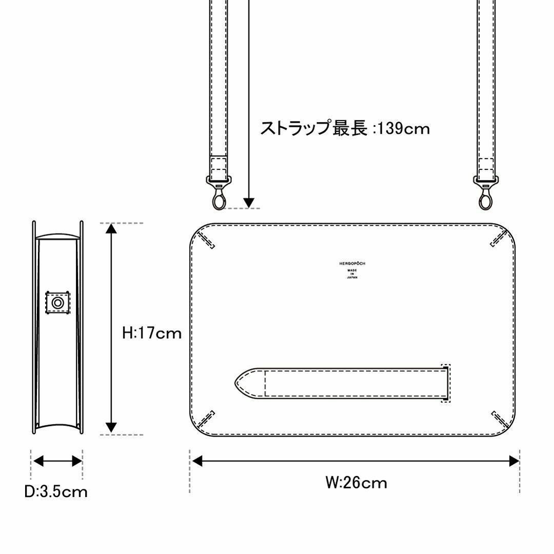 エルゴポックLEONクロコダイルクラッチバッグ詳細6